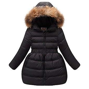 outlet store 2a918 bfe51 LSERVER-Piumino Bambina Invernale Giacca Bambina Piumino lungo Cappotto per  Bambini Elastic