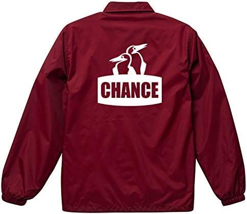ジャケット メンズ コーチジャケット 撥水性 NO BRAND CHANCE チャンス ロゴ チャムス パロディ ストリート おしゃれ 防風 ナイロン アウター