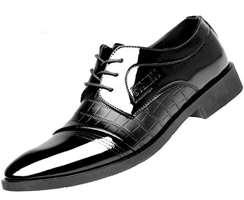 CSDM Scarpe casuali di affari di Big Promozione Uomini Scarpe casuali di affari degli uomini Le nuove scarpe da modello del coccodrillo calzano i pattini delle scarpe da sposa , black , 39