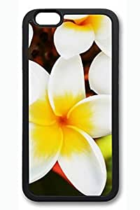 iPhone 6 Case - Exotic Flowers Plumerias Beautiful Scenery Pattern Rubber Black Case Cover Skin For iPhone 6 (4.7 inch)