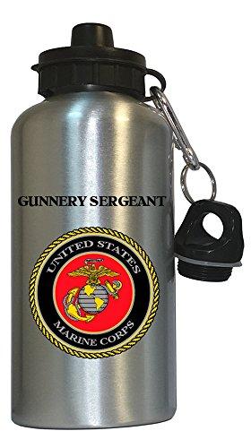 Gunnery Sergeant - US Marine Corps Water Bottle Silver, 1024