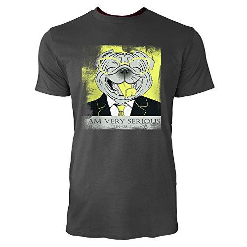 SINUS ART ® Lachender Hund mit Brille und Anzug