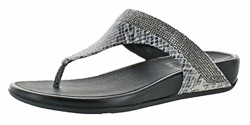 Fitflop Mujeres Banda Micro Crystal Toe Post Flip Flop Mink