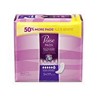 Poise Ultimate Absorbency Pads, Regular Length - 54 ct