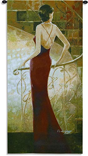 Pure Country Weavers Grande - Grand Staircase by Miquel Dominguez | Woven Tapestry Wall Art Hanging | Stylish Woman Lounge Bar Decor | 100% Cotton USA Size 53x27