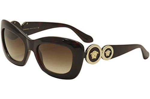 Versace Havana Sunglasses (Versace Women's VE4328 Sunglasses Havana / Brown Gradient 54mm)