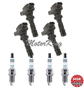 ic070 B2873 * 4 NGK * 4 iltr6 a8g uf540 C1683 6 m8g12 a366 06 - 10 Mazda 4 bobinas de encendido + 4 Bujías 3 6 CX-7 MX-5 06 07 08 09 2010: Amazon.es: Coche ...