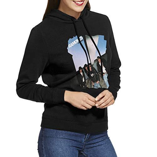 URAHARA Ramones Leave Home Women's Hooded Sweatshirt Black XXL -