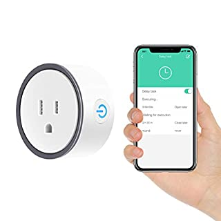 Smart Plug, Konke Wifi Mini Outlet Plug with Alexa, Google Home and IFTTT, No Hub Required Remote Control Your Home Appliances from Anywhere (1 Pack)