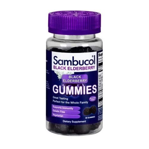 (Sambucol, (2 Pack) Sambucol, Black Elderberry, 30 Gummies)