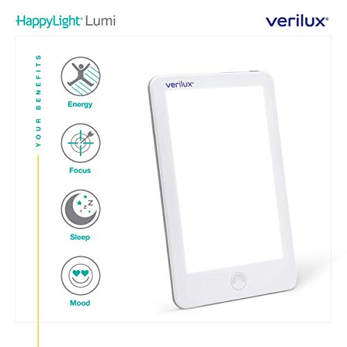 (New) Verilux HappyLight VT31 Lumi 10,000 Lux LED Bright White Light Therapy Lamp with Adjustable Brightness