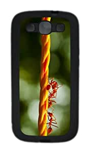 indestructible cover rope ants TPU Black case/cover for Samsung Galaxy S3 I9300