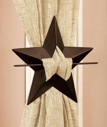 Set Of 2 Star Curtain Metal Tie Backs By Curtain Tieback