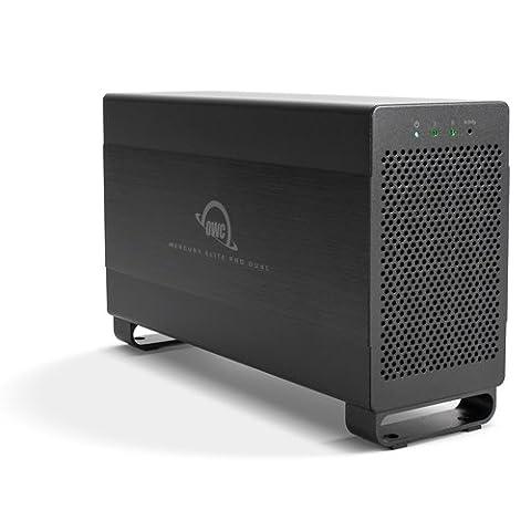 OWC / Other World Computing Mercury Elite Pro Dual 10TB (2x 5TB) 2-Bay 7200RPM HDD Performance RAID Storage Solution, USB 3.1 Gen 1/Thunderbolt 2, RAID 0/1/SPAN and Independent Drive Mode (10tb Usb Drive)