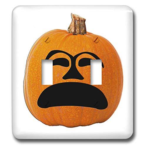 3dRose Sandy Mertens Halloween Food Designs - Jack o Lantern Unhappy Sad Face Halloween Pumpkin, 3drsmm - Light Switch Covers - double toggle switch (lsp_290216_2)]()
