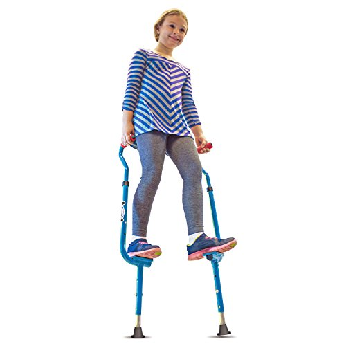 Geospace Original Walkaroo 'Wee' Balance Stilts Beginners, Little Kids (Ages 4 Over), Blue ()