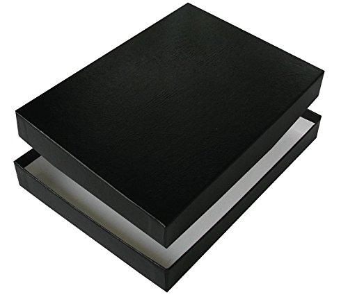 (8-1/2 x 10-1/2 x 1 Photo Print Boxes (20/pkg) (Black Leather) )
