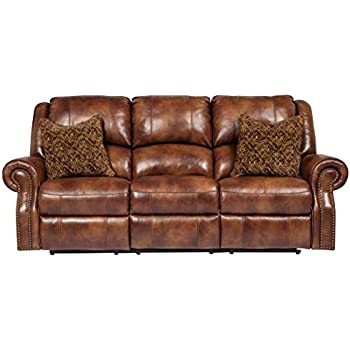 Ashley Furniture Signature Design - Walworth Recliner Sofa with 2 Pillows - 3 Seats - Pull  sc 1 st  Amazon.com & Amazon.com: Ashley Furniture Signature Design - Walworth Recliner ... islam-shia.org