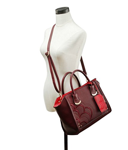 POUCH Women's WITH Tone Tote Shaped Bags BAG Great BROWN Nice LeahWard Two Handbags Fxwg77