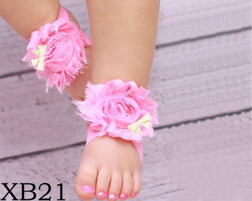BONAMART ® Nette Baby Infant Mädchen Barfuß Blume Sock Sandalen Schuhe Toe Blooms NEU XB21