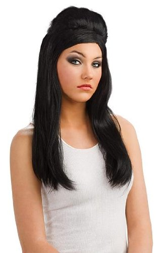 Snooki Costumes (Jersey Shore Snooki Wig,Black,One Size)