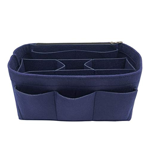 LEXSION Felt Handbag Organizer,Insert purse organizer Fits Speedy Neverfull 8001 Blue M ()