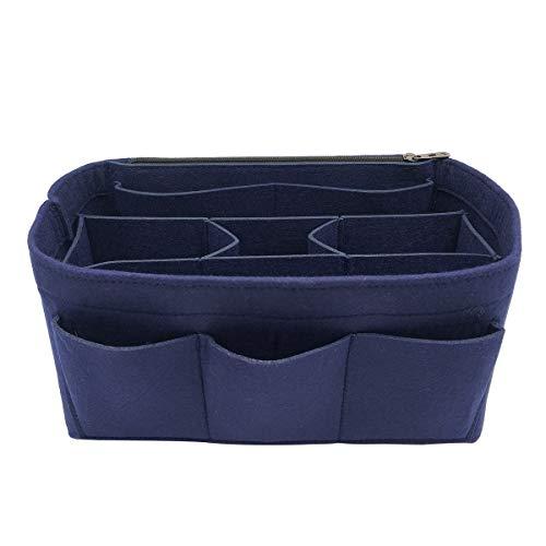 LEXSION Felt Handbag Organizer,Insert purse organizer Fits Speedy Neverfull 8001 Blue - Blue Organizer