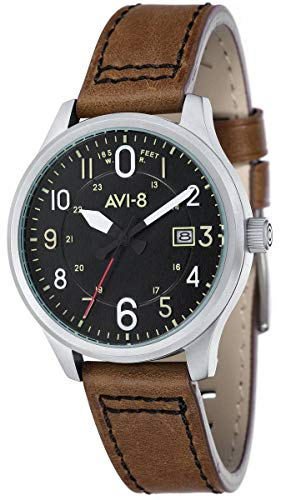 (AVI-8 Mens Hawker Hurricane Watch - Brown/Black)