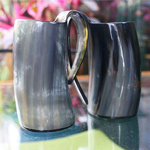 Viking Drinking Mug-Natural Ox Horn Drinking Mugs Beer Cups Viking Mugs by HORATII (Image #5)