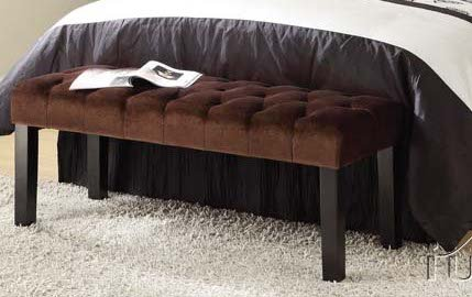 bell-collection-brown-finish-fabric-tufted-top-bedroom-bench