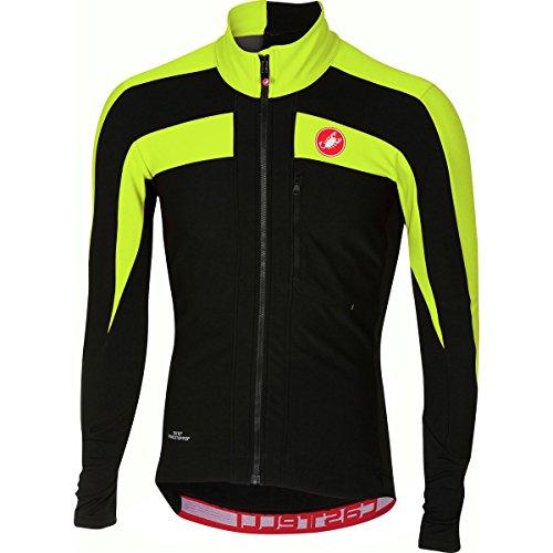 (Castelli Trasparente 4 Long-Sleeve Jersey - Men's Light Black/Yellow Fluo, XL)