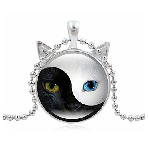 Lovers Lane Cat Costume - Woman Fashion Jewelry Retro Cute Cat Pendent Necklace for Lover Gift?Sliver?