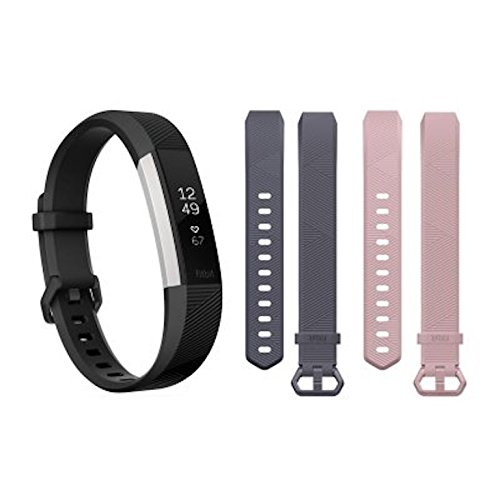 Fitbit FB408SBNDSSAM Alta HR with 2 Extra Bands Bundle, Small Black by Fitbit