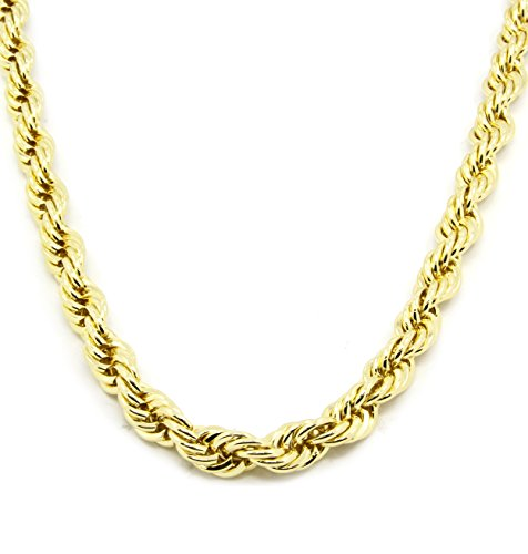 Gold Tone HIP HOP Rope Chain, Dookie Chain 36