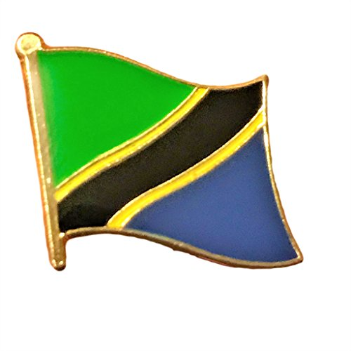"""Backwoods Barnaby Tanzania Flag Lapel Pin/International Travel Pins Collections by (0.75"""" x 0.75"""")"""