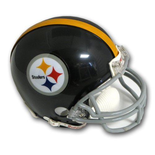 Helmet Steelers Pittsburgh Throwback (Pittsburgh Steelers (1963-76) Miniature Replica NFL Throwback Helmet w/2-Bar Mask by Riddell)