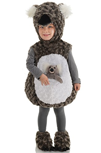 Underwraps Baby's Koala Belly-Babies, Dark Grey/White, Large ()