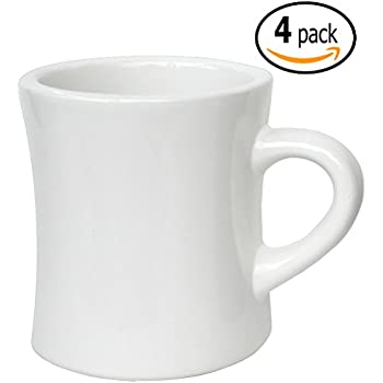 Amazon Com Diner Coffee Mug White Ceramic Mug Coffee