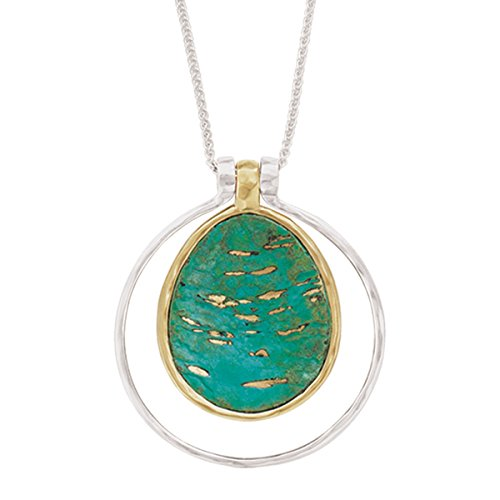 Silpada 'Five-Way Convertible Color' Pendant Necklace in Sterling Silver, Brass, and Patina, 16