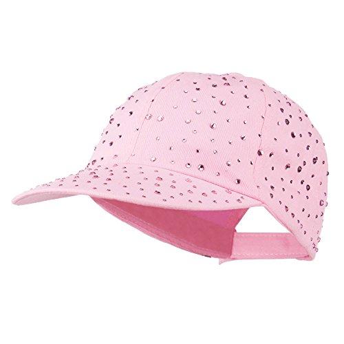 SS/Hat Bejeweled Glitter Baseball Cap - Pink OSFM ()