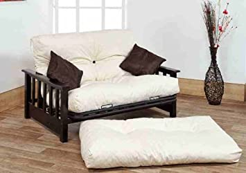 Ashton 2 Seater Futon Sofa Bed 4FT Small Double Size Wood