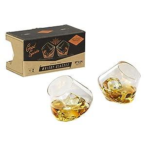 Gentlemen' s Hardware Dondolo Bicchieri da Whisky, Argento, Set di 2 8