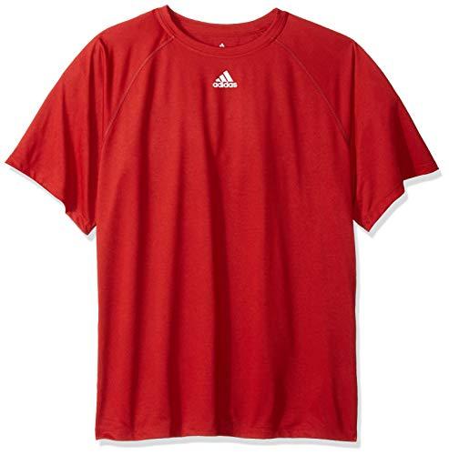 adidas 2996A Climalite Fitness Logo Tee Medium Red