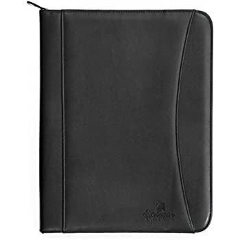 Professional Executive PU Leather Business Resume Portfolio Padfolio Case  Organizer With iPad Mini or Tablet Sleeve