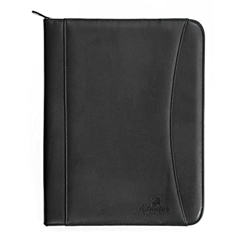 Professional Executive PU Leather Business Resume Portfolio Padfolio Case  Organizer With IPad Mini Or Tablet Sleeve Holder, Zippered Binder, Paper  Pad, ... Inside Resume Binder