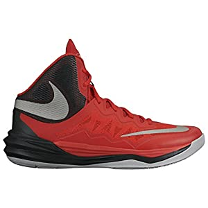 NIKE Men's Prime Hype DF II Basketball Shoe Red/Black/Grey/Reflect Silver Size 10.5 M US