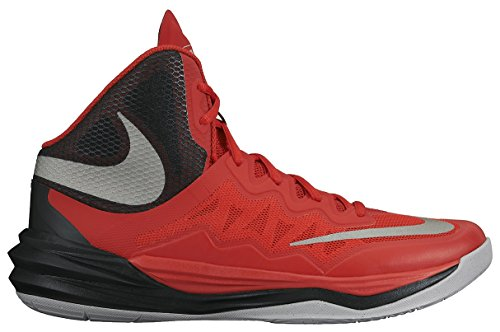 Men's Nike Prime Hype DF II Basketball Shoe Red/Black/Grey/Reflect Silver Size 10 M US