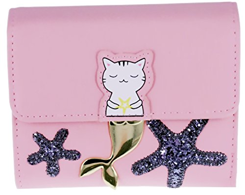 ABC STORY Womens Minimalist Cute Cat Small Front Pocket Wallet Purse For Teen Girls by ABC STORY