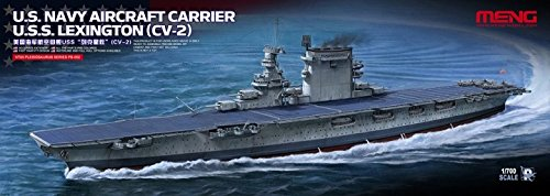 Meng 1:700 US Navy Aircraft Carrier USS Lexington CV-2 - Plastic Kit #PS002