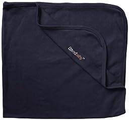 L\'ovedbaby Unisex-Baby Newborn Organic Swaddling Blanket, Navy, one size